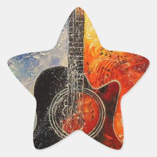 The rhythms of the guitar star sticker