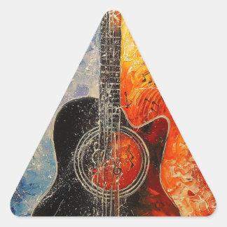 The rhythms of the guitar triangle sticker