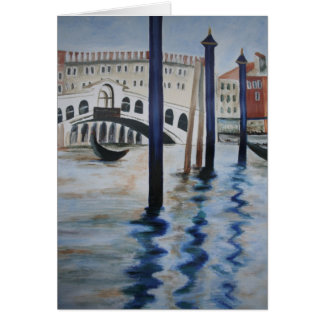 The Rialto Bridge Note Card