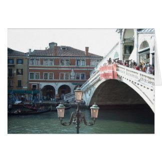 The Rialto Bridge,Venice Card
