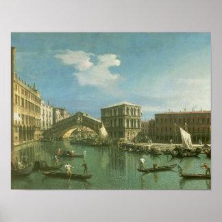 The Rialto Bridge, Venice Poster