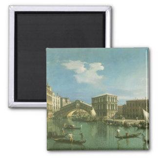 The Rialto Bridge, Venice Square Magnet