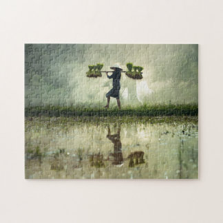 The Rice Harvester Malaysia. Jigsaw Puzzle
