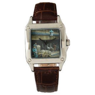 The Rice Merchants of Old Japan Vintage Japanese Wristwatch