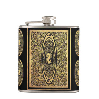 The  riders mark hip flask