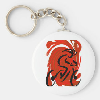 THE RIDERS VISION BASIC ROUND BUTTON KEYCHAIN