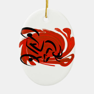 THE RIDERS VISION CERAMIC ORNAMENT