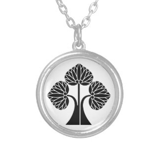 The right it leaves and stands the mallow silver plated necklace