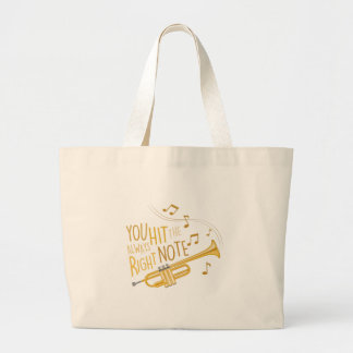 The Right Note Large Tote Bag