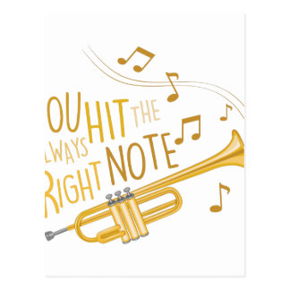 The Right Note Postcard
