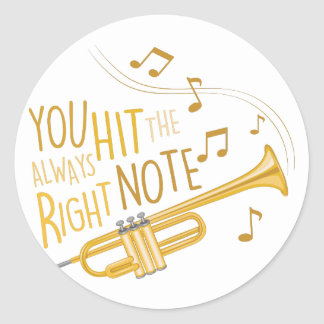 The Right Note Round Sticker