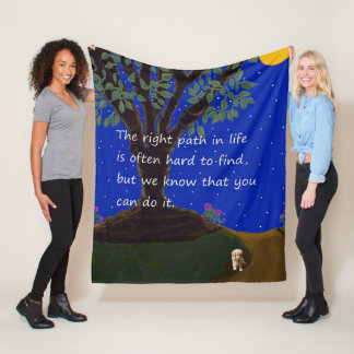 The Right Path In Life. Fleece Blanket