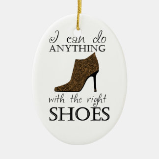 The Right Shoes Ceramic Ornament