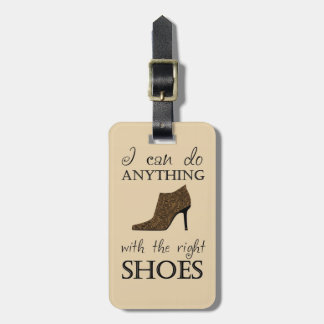 The Right Shoes Luggage Tag