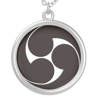 The right three-sided crest silver plated necklace
