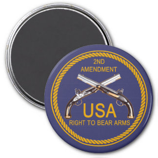 The Right To Bear Arms 3 3 Inch Round Magnet