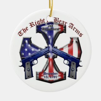 The Right To Bear Arms Ceramic Ornament