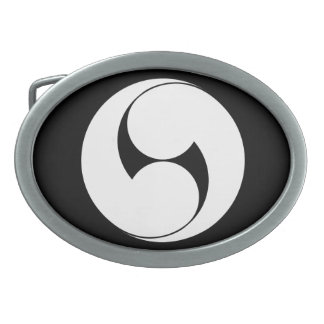 The right two 巴 (area pulling out) oval belt buckle