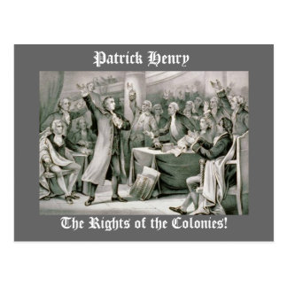 The Rights of the Colonies! Postcard