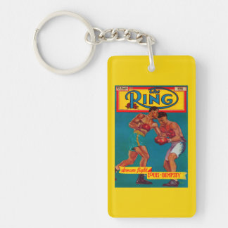 The Ring Magazine Cover Double-Sided Rectangular Acrylic Keychain