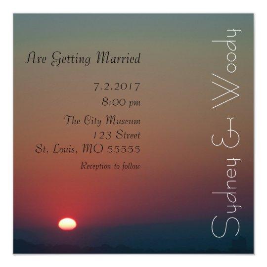 The Rising Sun Wedding Invitation