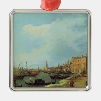 The Riva Degli Schiavoni, 1724-30 Silver-Colored Square Ornament