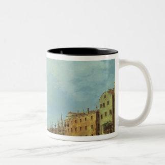 The Riva Degli Schiavoni, 1724-30 Two-Tone Coffee Mug