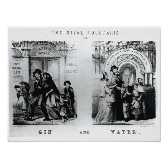 The Rival Fountains or Gin and Water Poster