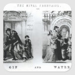 The Rival Fountains or Gin and Water Square Sticker