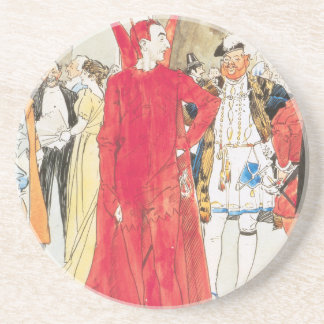 The Rival Mephistopheles: Philip William May; 1895 Beverage Coasters