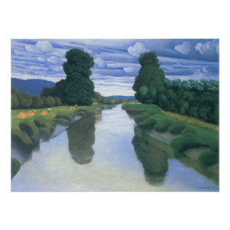 The River at Berville by Felix Vallotton Poster