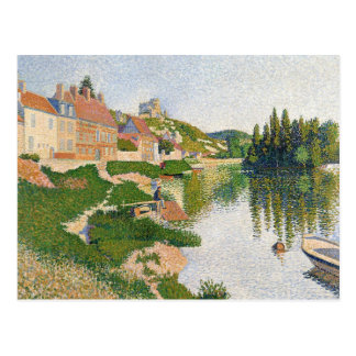 The River Bank, Petit-Andely, 1886 Postcard