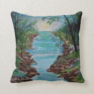 The river flows throw pillow