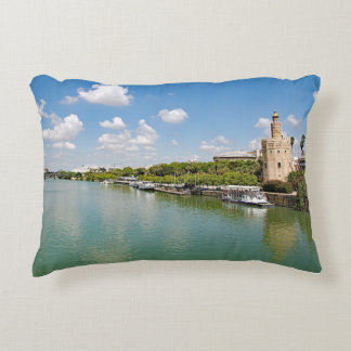 The river Guadalquivir and the Golden Tower Accent Pillow