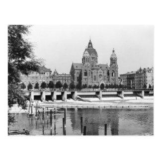 The river Isar at Munich, c.1910 Postcard