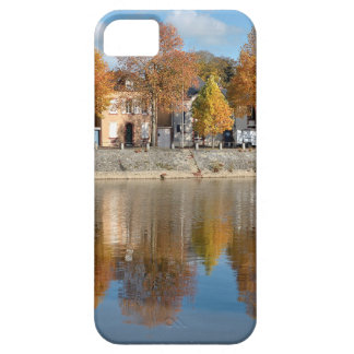 The river Mayenne at Laval in France iPhone 5 Covers