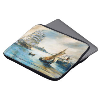 """""""The River"""" Original Tall Ship painting Laptop Sleeve"""