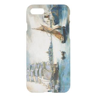 The River Sailing Ship original fine art painting iPhone 8/7 Case