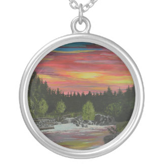 The River Silver Plated Necklace