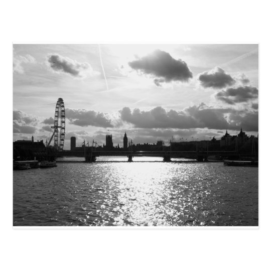 The River Thames and London mono Postcard