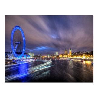 The River Thames at night Postcard