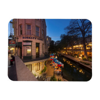 The Riverwalk At Dusk In Downtown San Antonio 2 Rectangular Photo Magnet