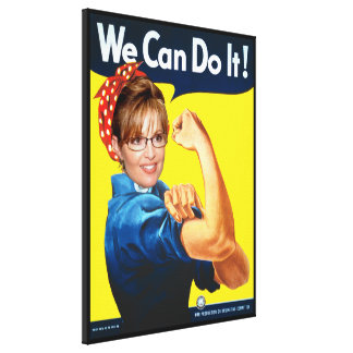 The Riveting Sarah Palin! Canvas Print