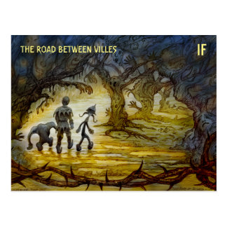 The Road Between Villes postcard by M. Winterbauer