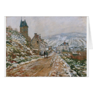 The Road in Vetheuil in Winter by Claude Monet Card