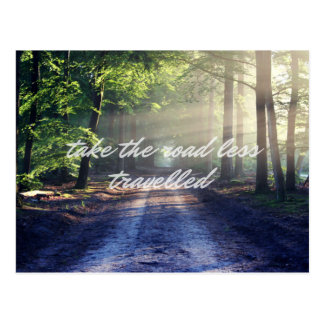 The Road Less Travelled Postcard