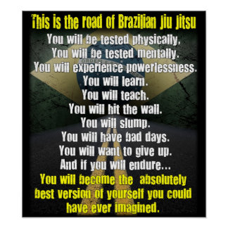 """The Road of Brazilian Jiu Jitsu"" Poster"