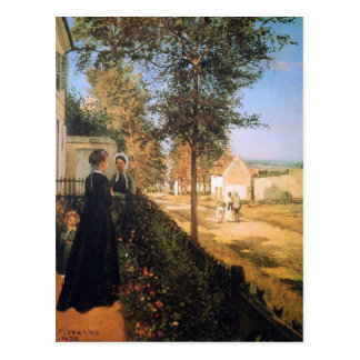 The road of Versailles by Camille Pissarro Postcard