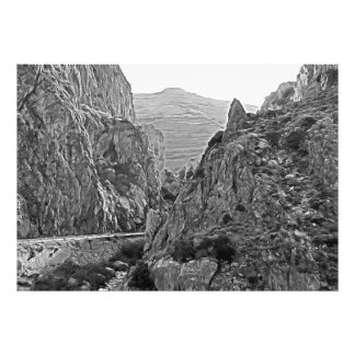 The road that turns into the mountains photo print