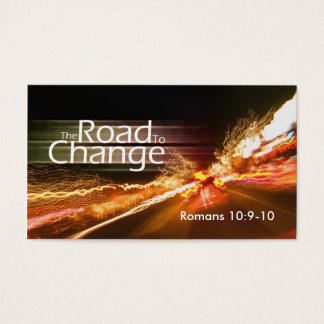 The Road to Change-medium Business Card